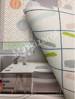 Рулонная штора серо-оливковая