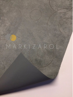 Рулонная штора Блэкаут с бархатным покрытием серый