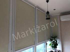 Рулонные шторы блэкаут в закрытой системе (  ткань dark-S 053)
