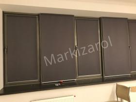 Рулонные шторы с механизмом серого цвета