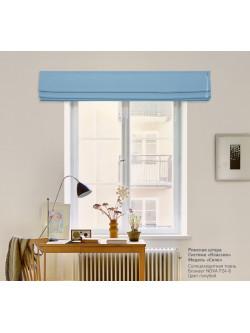 римская штора блэкаут nova голубой
