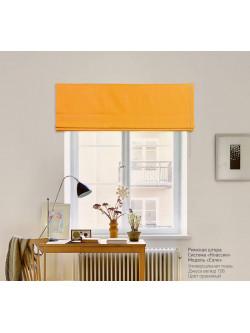 римская штора джуси велюр оранжевый