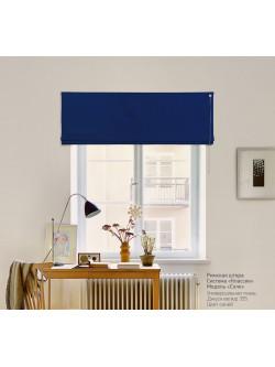 римская штора джуси велюр синий