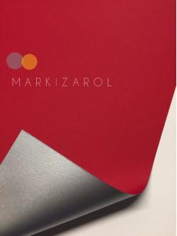 Рулонная штора метализированный блэкаут красный