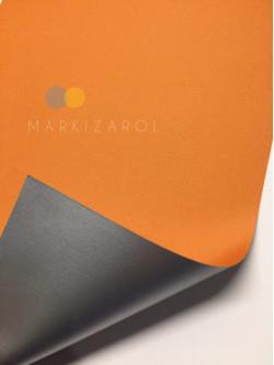 Рулонная штора метализированный блэкаут оранжевая