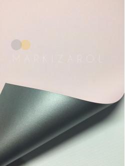 Рулонная штора метализированный блэкаут Нежно-розовая