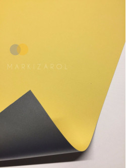 Рулонная штора метализированный блэкаут желтый